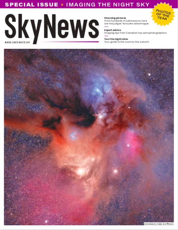 The September/October 2021 newsstand cover of SkyNews.